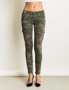 jean skinny stretch militaire camouflage kaki fonc uk8 eu36 look pinterest skinny. Black Bedroom Furniture Sets. Home Design Ideas