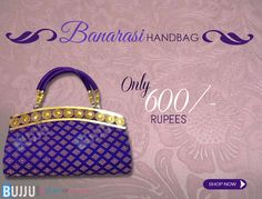 Buy this handbag now for good price.......  Product Name:Blue Banarasi Designer Party Wear Handbag  Product Code:MIAA90H018 Retail Price:Rs.600/- See more at:http://bit.ly/1NVHrny