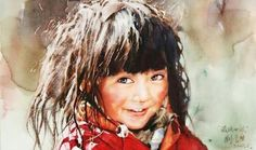 Watercolor Painter Uses Traditional Techniques to Reveal Expressive Faces of Tibet — My Modern Met Watercolor Portraits, Watercolour Painting, Painting & Drawing, Watercolours, Art Chinois, Guache, Realistic Paintings, Henri Matisse, Watercolor Techniques