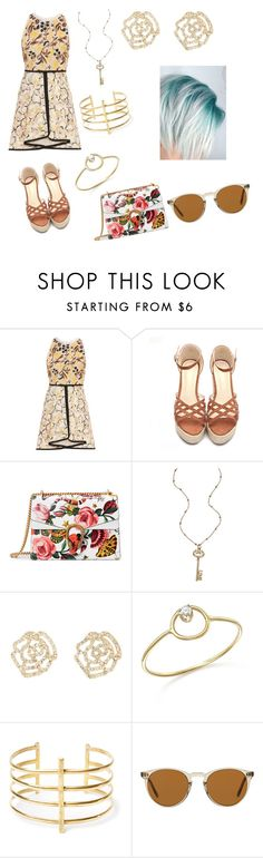 """""""good bye summer 2"""" by monica-elena-gurban on Polyvore featuring Giambattista Valli, Gucci, Blu Bijoux, Charlotte Russe, Zoë Chicco, BauXo and Oliver Peoples"""