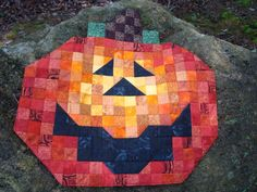 Pumpkin Fall Wallhanging by Jackiesewingstudio on Etsy
