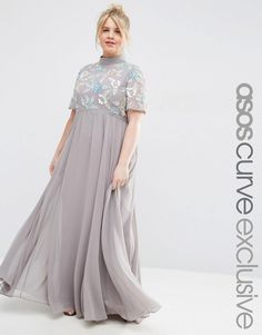 dc32924f9723 Image 1 of ASOS CURVE High Neck Embellished Maxi Dress Festklänningar,  Kurvigt Mode, Kvinna