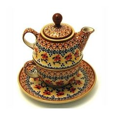 Polish Pottery 10 oz Tea for One Teapot