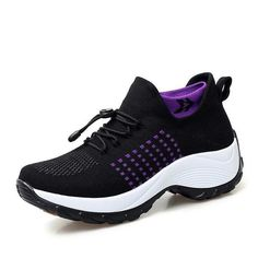 Sneakers Womens Flat Platform Running Non-Slip Breathable Mesh Sport Shoes OCEAN-STORE