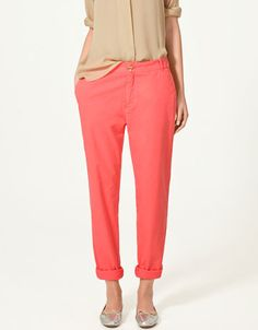 a coral trouser? what a good idea!
