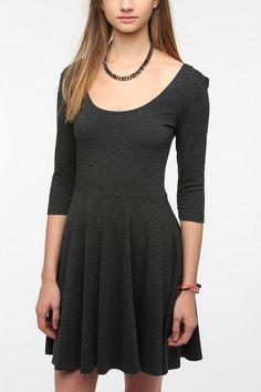 Sparkle & Fade 3/4 Sleeve Knit Circle Dress