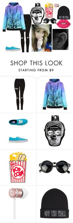 """""""qwert"""" by annie-hall-barton ❤ liked on Polyvore featuring Topshop, Vans, Beats by Dr. Dre and Lime Crime"""
