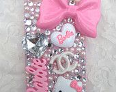 Pink Barbie meets Hello Kitty Decoden Iphone 4 case - READY TO SHIP