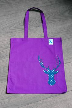 Check out this item in my Etsy shop https://www.etsy.com/listing/228752441/cotton-bag-with-appliqued-stag-motif