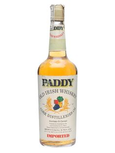 Paddy / Bot.1970s : Buy Online - The Whisky Exchange - An old bottle of Paddy Irish Whiskey, bottled sometime in the 1970s.