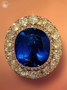 Russian sapphire brooch