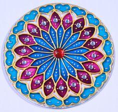 Manzanares el Real Mandala Art, Mandalas Painting, Mandala Drawing, Mandala Design, Wooden Painting, Dot Painting, Fabric Painting, Painting Templates, Painting Patterns