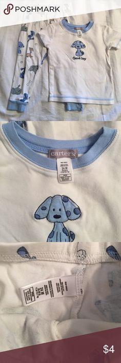 Carters - infant boy pjs Size 24 month boys matching pj set; great condition Carter's Pajamas Pajama Sets