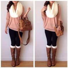 Socks, Boots, Sweater, Scarf!! :) so glad its Autumn