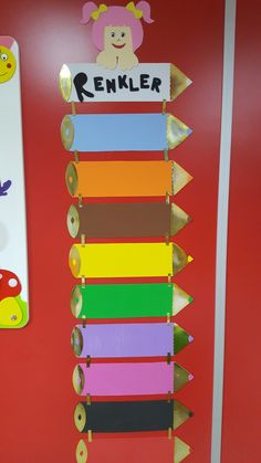 Okul öncesi renkler köşesi