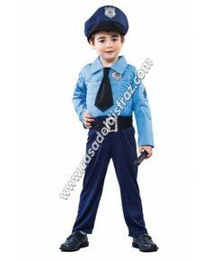 Disfraz de Policia para niños. #DisfracesOriginales #Carnaval www.casadeldisfraz.com