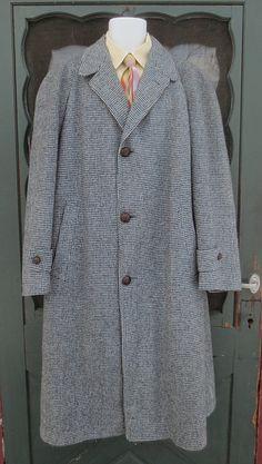 Vintage 1950's Man's HARRIS TWEED Wool Overcoat  by delilahsdeluxe, $33.50