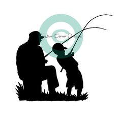 Father and Son Fishing Vinyl Decal by KreativeCorner on Etsy, $10.00