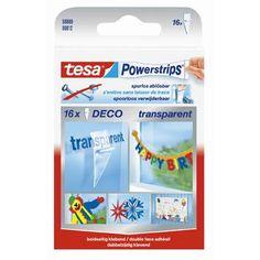 Tesa tape power strips 'Deco' transparent - 16 pcs | Brico