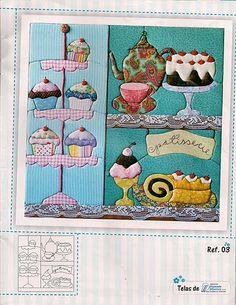 !!!!♥ Feltro-Aholic Moldes e tutoriais em feltro: Risco Cupcake para patchwork e patchapliquee