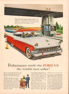 https://flic.kr/p/PwyKfc | 1956 Ford V-8 Advertisement Time Magazine June 4 1956 | 1956 Ford V-8 Advertisement Time Magazine June 4 1956