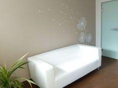 Dandelion wall sticker in waiting room