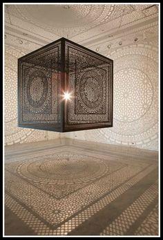 Installation by Fabrizio Cornellli. Contemporary artist.