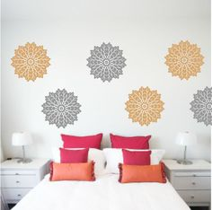 White flowers wall decals painting pinterest white flowers white flowers wall decals painting pinterest white flowers wall decals and walls mightylinksfo