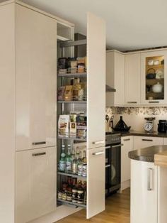 Glendevon Cream - Glendevon - Kitchen Families - Kitchen Collection - Howdens Joinery - The Luxury Mindset For Success Larder Unit, Kitchen Larder, Larder Cupboard, Kitchen Units, Kitchen Cupboards, New Kitchen, Kitchen Storage, Kitchen Dining, Kitchen Ideas