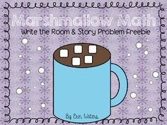 Marshmallow math FREEBIE! Includes a Write the Room activity as well as a partner story problem activity :)