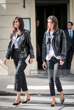 Emmanuelle Alt is seen, outside the Valentino show, during Paris Fashion Week Spring Summer 2017, on October 2, 2016 in Paris, France.