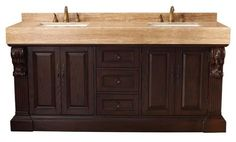 """Westport 72"""" Double Sink Bathroom Vanity Cabinet - Dark Cherry Finish - Step into Newport with the incredibly refined Newport collection. From the crisp lines and symmetry to the detailed woodworking, this vanity is not lacking in design. Treat yourself with a private oasis in your own home. When you enter your bathroom space, the calming presence of the bold dark cherry finish vanity transports you to a place of peace and tranquility."""