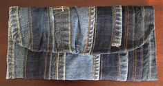 Denim Clutch made from Repurposed Jeans от SprucedByMindy на Etsy
