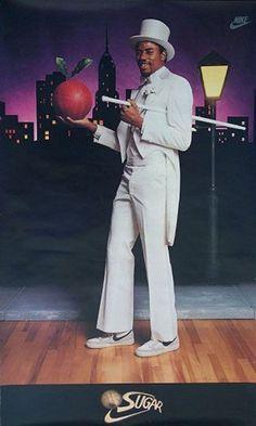Michael Ray Richardson aka Sugar - NBA New York Knicks 1983 nike New York Knicks Basketball Jones, New York Basketball, Basketball History, Basketball Posters, Basketball Legends, Sports Posters, College Basketball, Nike Basketball, Nike Poster