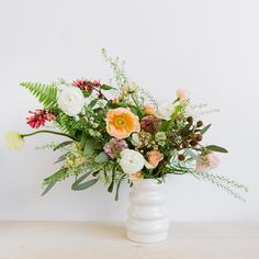"""""""Had such a lovely shoot with @britmcdaniel yesterday. @karinflowerstylelove was so sweet and made this beautiful arrangement in one of @britmcdaniel new…"""""""
