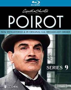 """""""Agatha Christie"""" Agatha Christie's Poirot: Series 9 (Blu-ray) at BBC Shop Hercule Poirot is the world's most beloved detective created by legendary crime author Agatha Christie. In these beautifully remastered feature-length mysteries set amid the elegance of the Art Deco era, follow the dapper detective as he solves with his usual flair and savoir-faire four stories starring the impeccable actor David Suchet who captures the Poirot spirit and character in every way."""