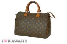 Auth Louis Vuitton Monogram Speedy 30 Bag Hand Purse Boston Free Shipping! #LouisVuitton #HandBag