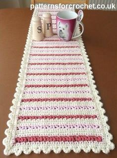 Accessorize your dining table with this great crochet pattern