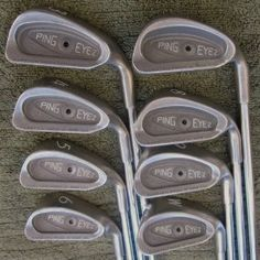 Ping Eye 2 Golf Set Irons 3-PW Black Dot Eye2 Superb Condition Pam Pam, Black Dots, Irons, Golf Clubs, Golf Stuff, Eye