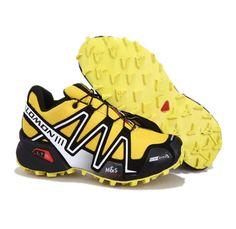Chaussures Trail Salomon Speedcross 3 Jaune Noir Blanc
