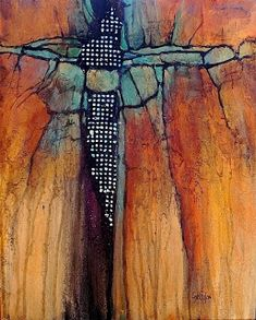 CAROL NELSON FINE ART BLOG: Geological Abstract Mixed Media Painting \