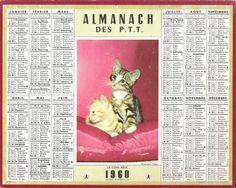 Calendrier 1960 Avec Les Jours.31 Meilleures Images Du Tableau Calendrier Ptt Ancien