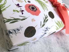 Flowers & Botanicals Gift Wrap, Fine Wrapping Paper