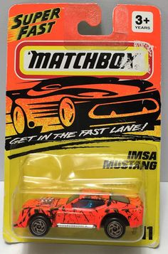 """(TAS034013) - 1994 Matchbox """"Get in the Fast Lane"""" - IMSA Mustang, , Trucks & Cars, Matchbox, The Angry Spider Vintage Toys & Collectibles Store - 1"""