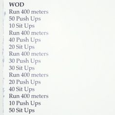 My first crossfit workout! Try it for yourself!