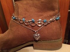 43 Crystal Shoes Ideas To Wear Asap - New Shoes Styles & Design Boot Jewelry, Anklet Jewelry, Anklets, Cowgirl Jewelry, Western Jewelry, Boot Bling, Bling Shoes, Boho Boots, Casual Boots