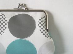 Large coin purse 'Spotted' in Dark Turquoise by LouiseBrainwood, £22.00