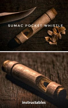 How to Make a Sumac Pocket Whistle #woodworking #toy #instrument