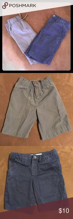 Boys 2 PC Shorts Bundle Boys size 4. Dark gray drawstring shorts by Jumping Beans. 70% cotton / 30% nylon. Navy blue khaki shorts by Cherokee. Inside elastic straps to tighten waist as needed. 60% cotton / 40% polyester.  Gently worn!                ❕TOP RATED SELLER❕                📦 FAST SHIPPING‼️📦                💕Quick Responses!💕                👌🏼Bundle to save 15%! Cherokee Bottoms Shorts