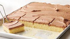 Sheet Cake Recipes, Frosting Recipes, Sheet Cakes, Yellow Sheet Cake Recipe, Icing Recipe, 13 Desserts, Dessert Recipes, Crock Pot, Chocolate Buttercream Frosting